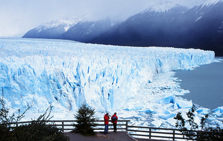 Perito Moreno Glacier - Tourists on Viewing Platform