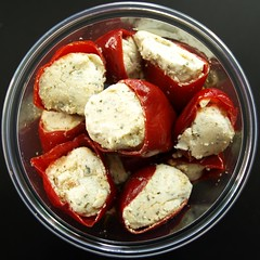 Stuffed chilli peppers