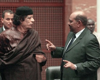 Martyred Libyan leader and former African Union Chairman, Muammar Gaddafi, hosted President Omar Hassan al-Bashir of Sudan. Sudan has defied the ICC warrant issued against al-Bashir. Gaddafi and family were targeted as well. by Pan-African News Wire File Photos