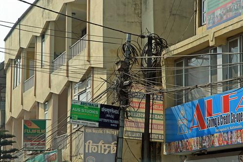 Power lines in Kathmandu