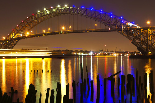 Bayonne Bridge At Night, Bayonne, NJ
