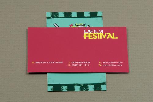 Film Festival Business Card