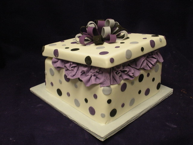 Present box cakes a gallery on flickr gift box cake negle Images