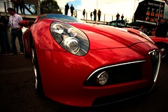 auto show(0.0), antique car(0.0), automobile(1.0), alfa romeo(1.0), vehicle(1.0), automotive design(1.0), alfa romeo 8c(1.0), alfa romeo 8c competizione(1.0), land vehicle(1.0), supercar(1.0), sports car(1.0),