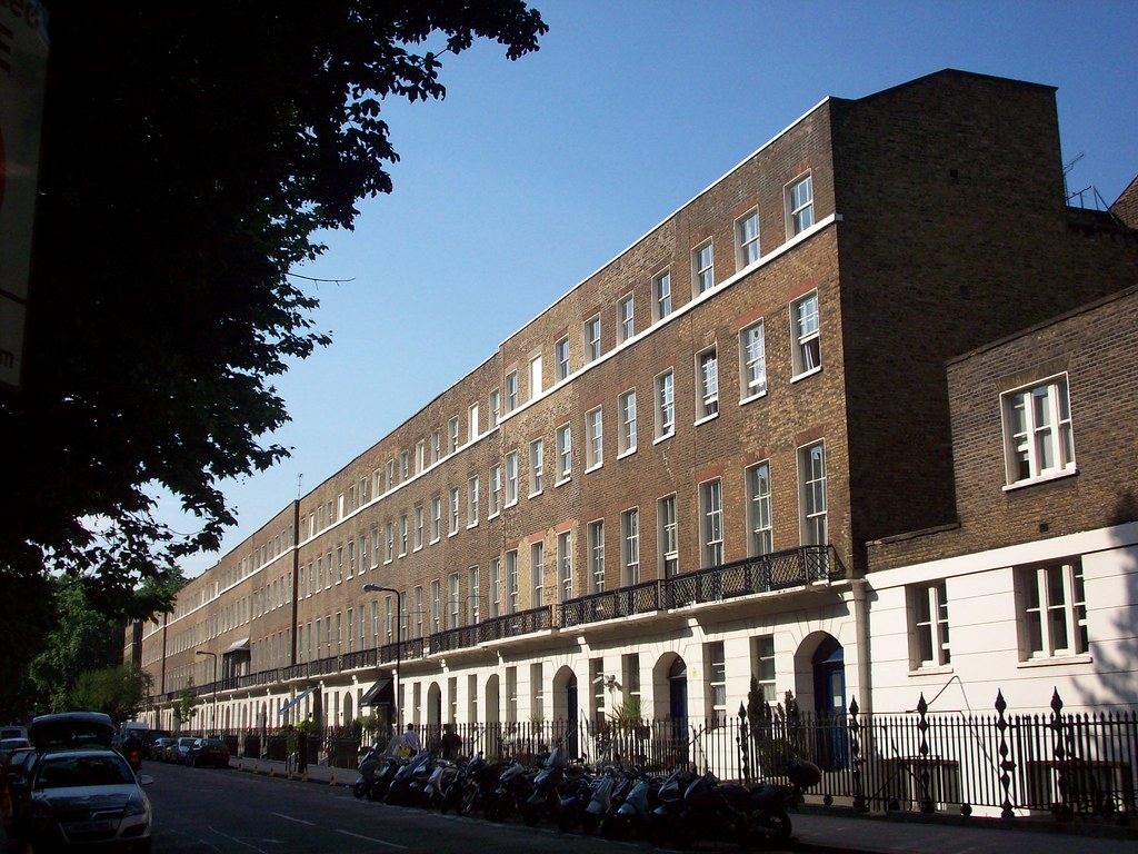 A view of the east side of Bedford Place, London