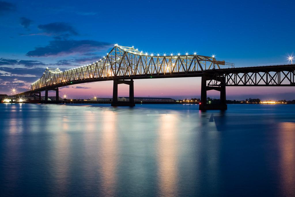 Mississippi River Bridge Baton Rouge Nature
