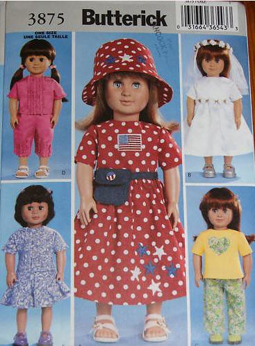 "Bizzy Crochet: Lacey Celebration Dress- 18"" Doll Clothes Pattern"