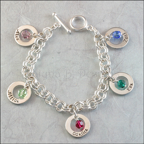 s or grandmother s personalized charm bracelet