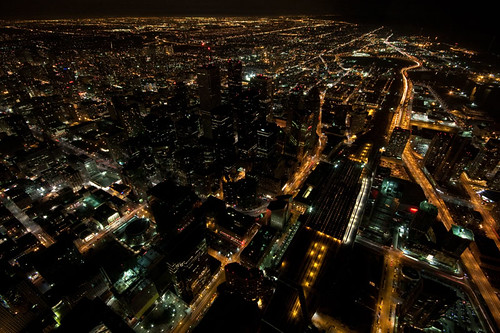 Downtown Toronto during Earth Hour