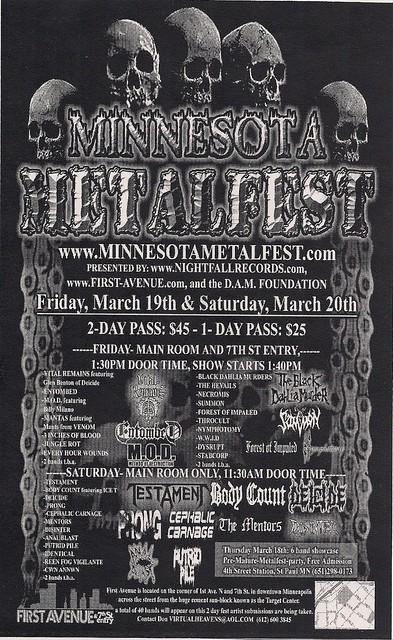 03/19-20/04 Minnesota MetalFest Flyer