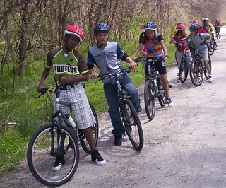 Youth group on the Katy Trail
