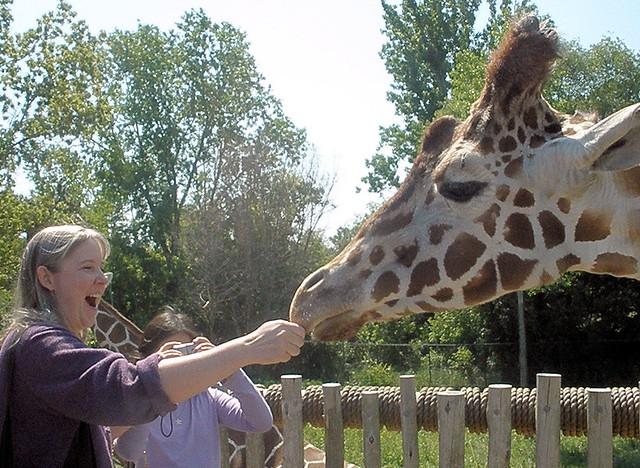 Me Feeding Giraffe