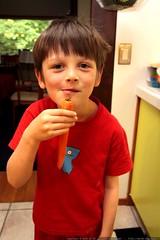nick demonstrates his carrot beard