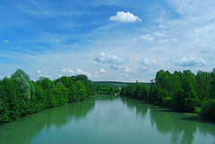The River Marne, in Mézy Moulins, at the heart of Champagne