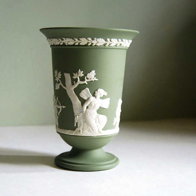 Wedgwood Jasperware Vase Sage Green With Cupid And Psyche Flickr Photo Sharing