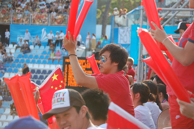 Chinese fans at Roma 2009 (2)