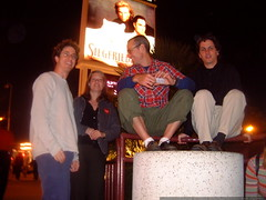 posing in front of the sigfried & roy billboard   ds…