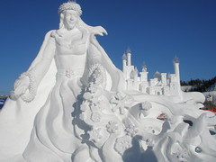 Team BC's very impressive snow sculpture!