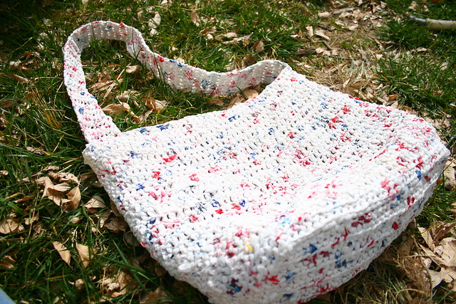 Crocheting Using Plastic Bags : Crocheted plastic bag Flickr - Photo Sharing!