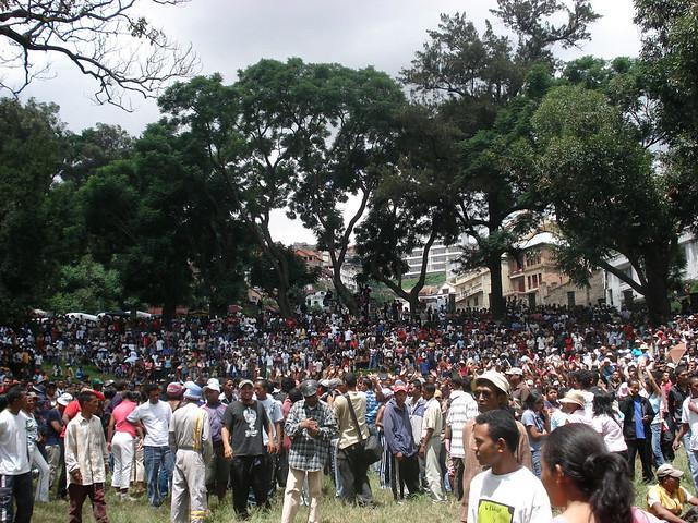 Rally against Andry Rajoelina's installation