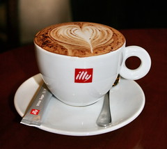Illy Cappuccino with a heart