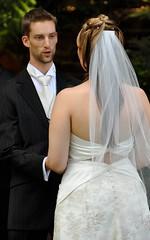 bride, veil, bridal clothing, groom, gown, wedding, marriage, woman, female, groom, wedding dress, dress, ceremony,