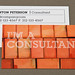 Home Maintenance Business Card with Bricks