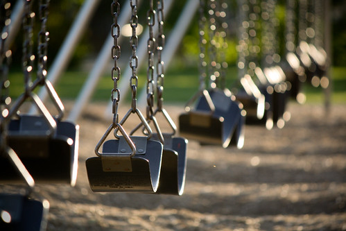 Empty swingset