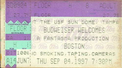 Troy's Tickets (09-04-97 Boston @ Tampa, FL)