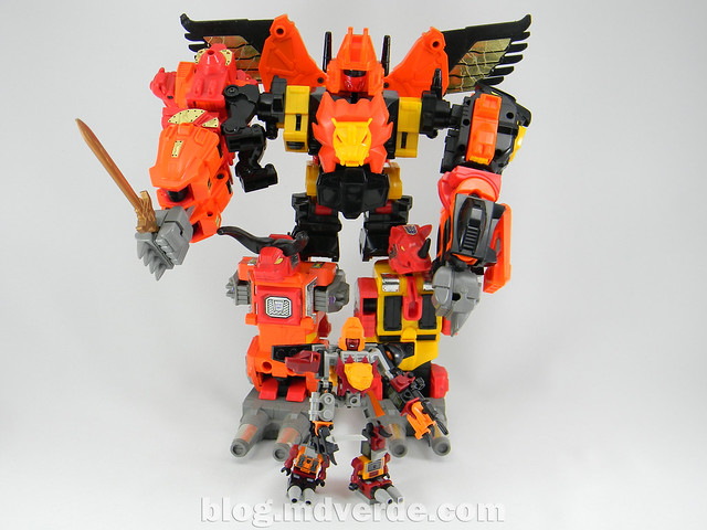 Transformers Predaking Kre-O - modo combinado vs G1