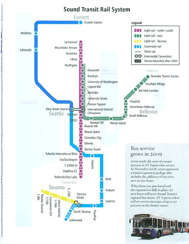 Link Rail Seattle Map.Sound Transit Rail System A Diagrammatic Representation Of Flickr
