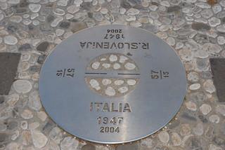 Confine a piazza della Transalpina / State border at Transalpina square
