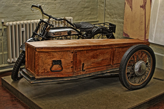 motor cycle and side coffin