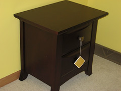 end table, drawer, furniture, chest of drawers, chest, table, filing cabinet, nightstand, desk,