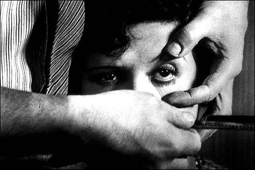The eyeball cutting scene, inspired by Bunuel's dream
