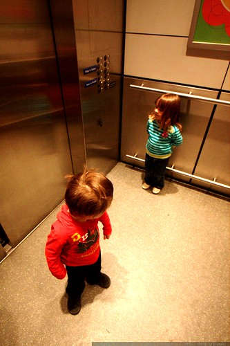 checking each other out in the elevator    MG 0431