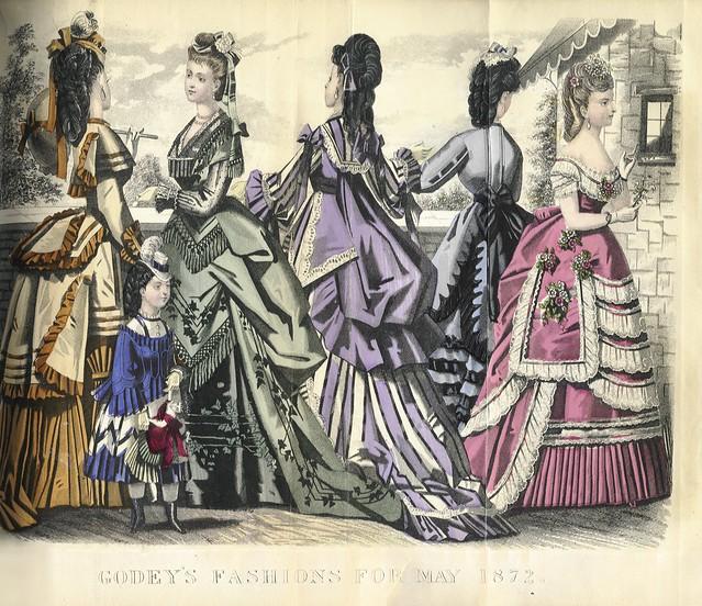 Bustle Lady  Fashion Godey