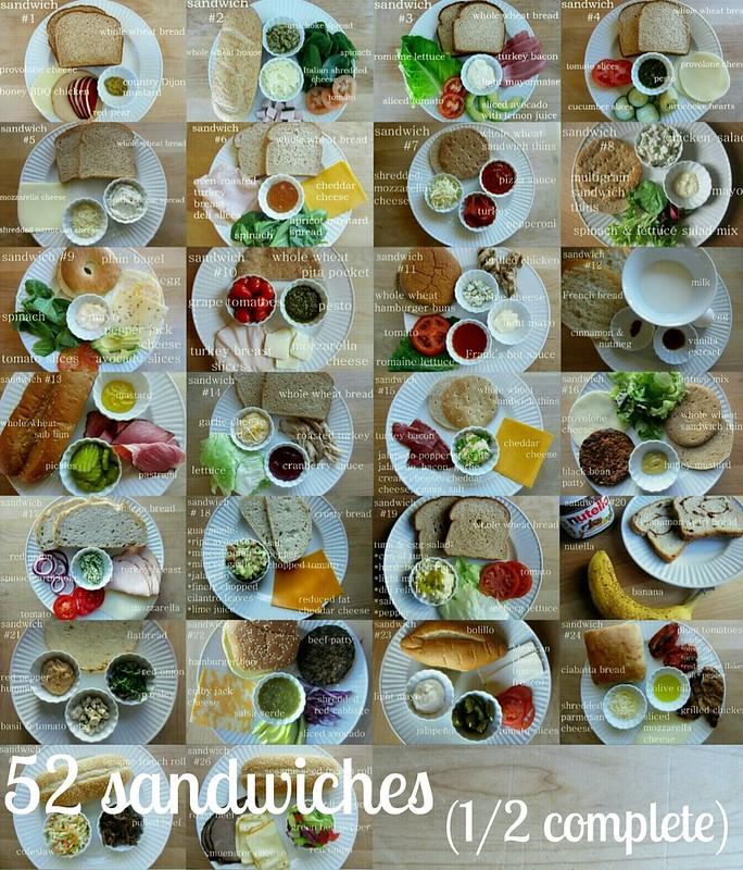 52 sandwiches (1/2 complete)