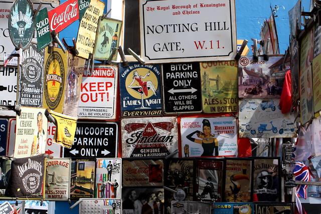 portobello market signs for sale notting hill london flickr photo sharing. Black Bedroom Furniture Sets. Home Design Ideas