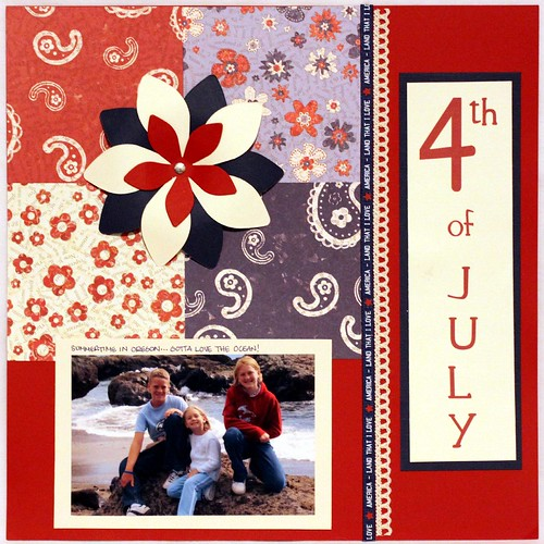 4th of July Scrapbook Page 0082x