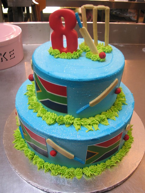 2 tier Cricket birthday cake Flickr - Photo Sharing!