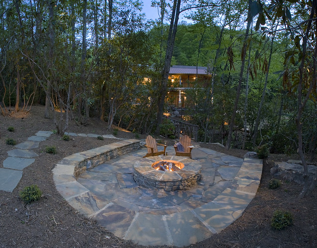 Stone Firepit Patio Explore Acm Design Architects