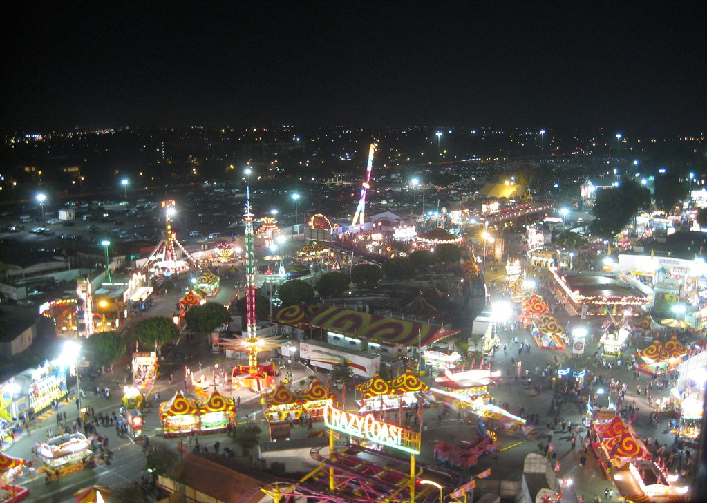 OC Fair from Above at Night