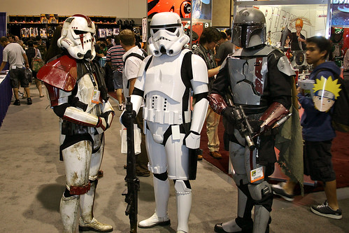 Stormtroopers and Boba Fett