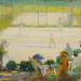 Anderson, Karl (1874-1956) - 1910 Tennis Court at Hotel Baudy