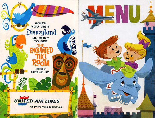 1964 United Air Lines Kids' Menu