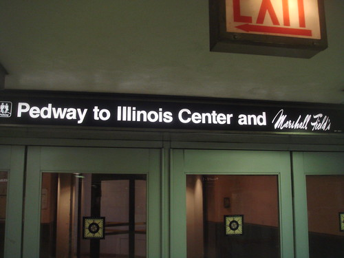 Pedway to Illinois Center and Marshall Fields
