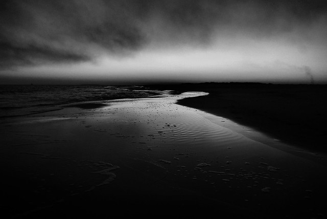Dauphin Island sunset in black