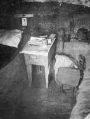 The interior of Captain Withers dug-out, Gallipoli, Turkey, 1915