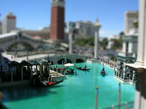 Tilt Shift Venetian in Las Vegas
